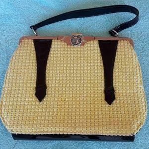 Vintage Roman soldier coin handbag, 11.5x8.5x2 in
